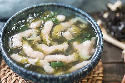 虾条紫菜汤