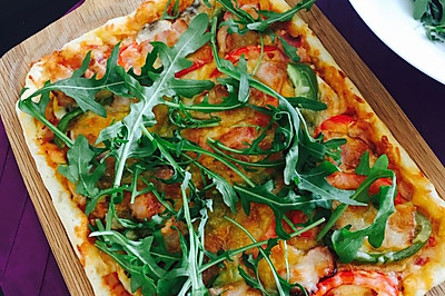 培根菌菇披萨Pizza