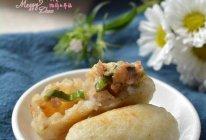 土豆米饭香菇团子的做法