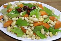 芹菜黄豆的做法
