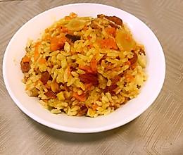 腊肠南瓜杏鲍菇焖饭的做法