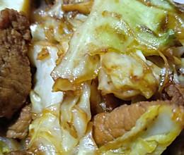 圆白菜炒肉的做法