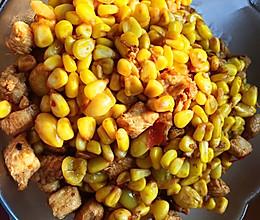 玉米粒炒鸡肉丁的做法