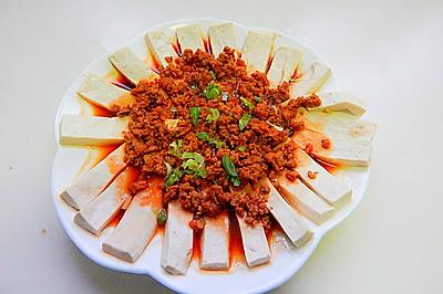 肉末蒸嫩豆腐