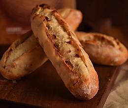 无糖裸麦培根面包的做法