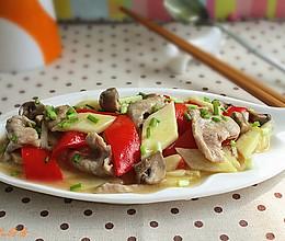 茭白蘑菇肉片的做法