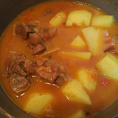 西紅柿土豆羊肉