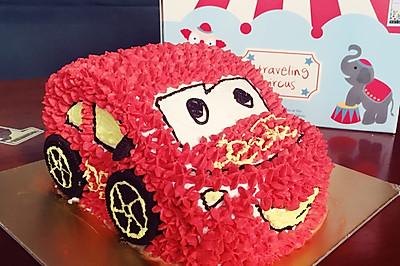 小汽车生日蛋糕~8寸戚风圆模版#约会MOF#