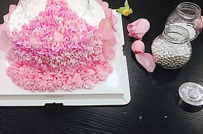 情人节【专属】女王礼服蛋糕裱花