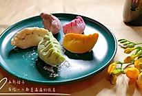 五种颜色饺子皮包入五种馅料,做成五彩饺子,每吃一口都是惊喜的做法