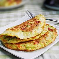 西葫芦煎蛋饼 #急速早餐#的做法图解7