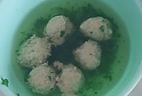 清汤小白菜肉丸汤的做法