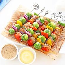 鸡肉彩蔬烤串