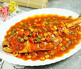 连汤汁都抢光的茄汁烧黄鱼#盛年锦食·忆年味#的做法