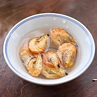 #一道菜表白豆果美食#杏鲍菇虾干青菜小炒的做法图解2