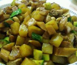 宫保杏鲍菇、土豆丁的做法