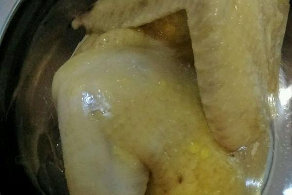 姜葱蒸鸡的做法