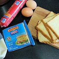 秋葵火腿煎蛋三明治#百吉福食尚达人#的做法图解1