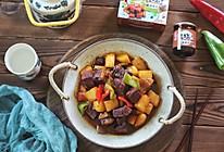 红烧牛腩这样做,牛腩软烂,色泽匀称,味道倍棒的做法