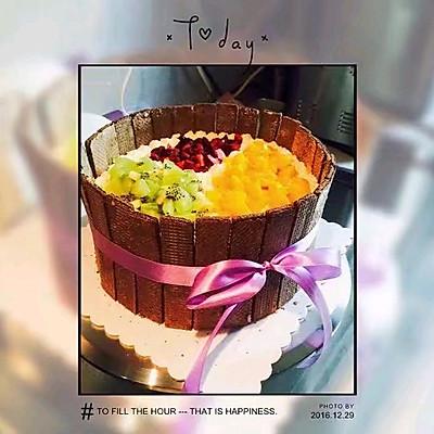 八寸戚风生日蛋糕