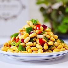 #花10分钟,做一道菜!#剁椒凉拌黄豆时蔬