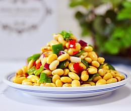 #花10分钟,做一道菜!#剁椒凉拌黄豆时蔬的做法