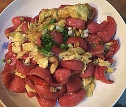 热狗炒鸡蛋的做法