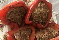 彩椒塞肉的做法