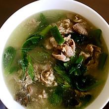 羊肉小白菜粉丝汤