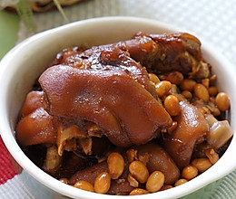 好啃的黄豆炖猪蹄的做法
