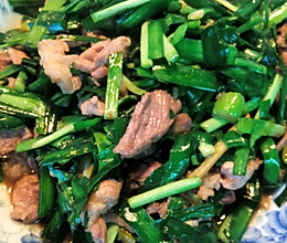 韭菜炒肉(家常)的做法