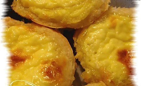 飞饼皮做蛋挞的做法
