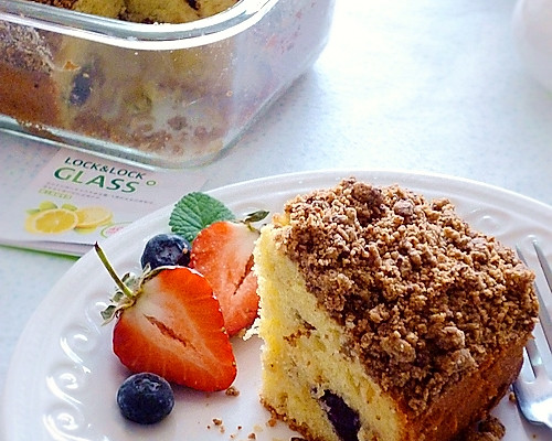 酥顶蓝莓葡萄'仁'蛋糕的做法