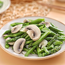 春食怎能错过鲜嫩可口的芦笋——芦笋炒口蘑