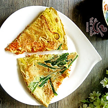 什锦蔬菜鸡蛋饼#急速早餐#