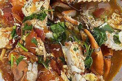 青蟹番茄汤