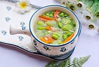 #秋天怎么吃#丝瓜毛豆虾米汤的做法