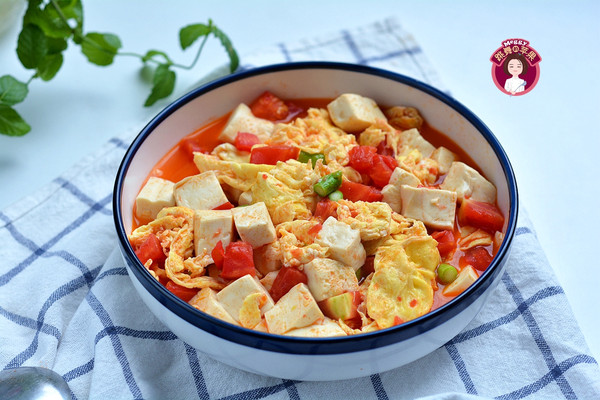 素烧鸡蛋番茄豆腐的做法