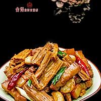 家常下饭菜【红烧腐竹】的做法图解5