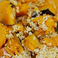 健康便当23(南瓜糙米饭+柠檬鸡丝+干锅包菜)的做法图解3