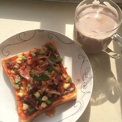 快手早餐微波炉吐司披萨