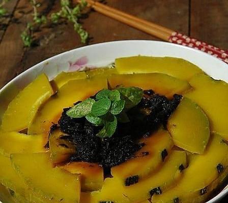 榄菜蒸南瓜的做法