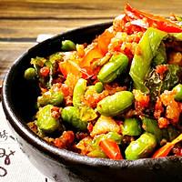 家常菜-辣椒毛豆炒肉沫的做法图解14