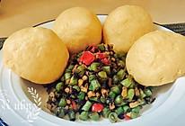 """榄菜""""肉糜""""豆角配玉米面窝窝头#美食新势力#的做法"""