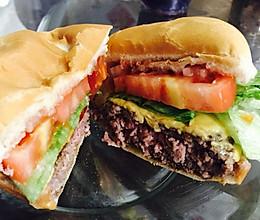 最正宗美式汉堡(多汁)Half pound burger的做法