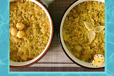 一步完成绿豆小米百合粥