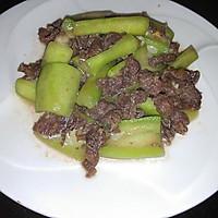 【家乐上菜,家常有味】牛肉炒丝瓜的做法图解5