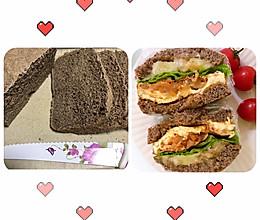 100%黑全麦面包(面包机版)的做法