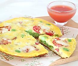 夏日没胃口?鸡蛋几步变身美味披萨,一个平底锅就行的做法