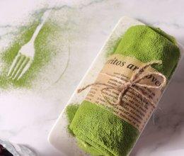 抹茶蜜豆毛巾卷的做法